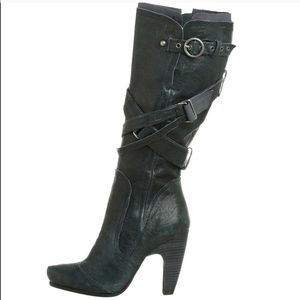 Anthropologie Seychelles black leather boots
